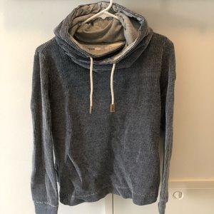 Cowel neck hooded sweatshirt